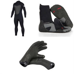 Rip Curl 4​/3 Dawn Patrol Back Zip Wetsuit ​+ Rip Curl 5mm Dawn Patrol Round Toe Boots ​+ Rip Curl 3mm Dawn Patrol Gloves
