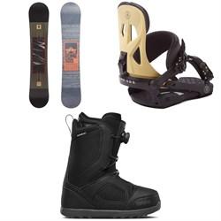 Rome Reverb Rocker SE Mid Wide Snowboard + Arsenal Snowboard Bindings + thirtytwo STW Boa Snowboard Boots