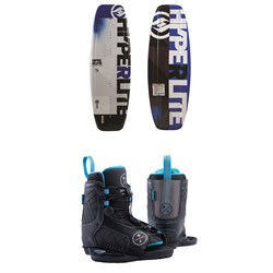 Hyperlite Motive Wakeboard ​+ Remix Jr. Wakeboard Bindings - Boys' 2019