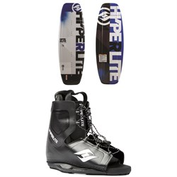 Hyperlite Motive Wakeboard​+ Frequency Wakeboard Bindings - Boys 2019