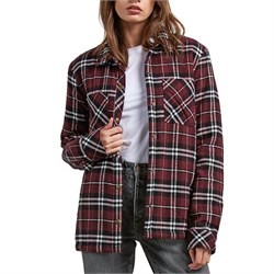 Volcom Plaid About You Flannel Shacket - Women's