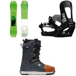 Bataleon Wallie Snowboard ​+ Switchback Smith Snowboard Bindings ​+ DC Mutiny Snowboard Boots 2019