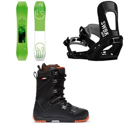 Bataleon Wallie Snowboard ​+ Switchback Smith Snowboard Bindings ​+ DC Mutiny Snowboard Boots