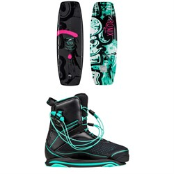 Ronix Quarter 'Til Midnight Wakeboard ​+ Signature Wakeboard Bindings - Women's 2019