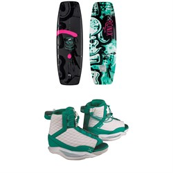 Ronix Quarter 'Til Midnight Wakeboard ​+ Luxe Wakeboard Bindings - Women's 2019