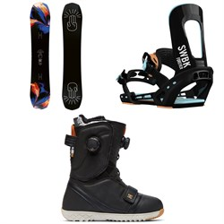 Bataleon Distortia Snowboard ​+ Switchback Forever Snowboard Bindings ​+ DC Mora Boa Snowboard Boots - Women's 2019