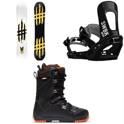 Lobster Jib Snowboard ​+ Switchback Smith Snowboard Bindings ​+ DC Mutiny Snowboard Boots 2019