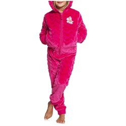 Roxy Cozy Up Hooded Fleece Onesie - Little Girls'