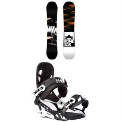 Rome Mod Rocker Snowboard + Rome 390 Boss Snowboard Bindings