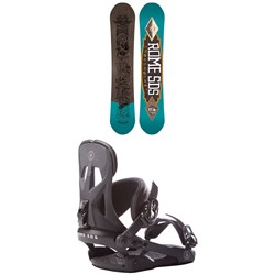 Rome Crossrocket Snowboard ​+ Rome Arsenal Snowboard Bindings