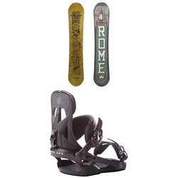 Rome Crossrocket Snowboard + Rome Arsenal Snowboard Bindings
