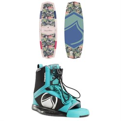 Liquid Force Angel Wakeboard ​+ Plush Wakeboard Bindings - Women's