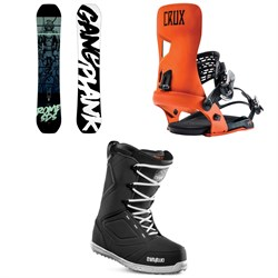 Rome Gang Plank Snowboard + Rome Crux Snowboard Bindings + thirtytwo Zephyr Snowboard Boots 2019
