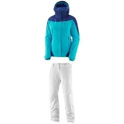Salomon Icerocket Jacket - Women's + Salomon Icemania Pants - Women's