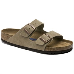 03dd0b283711 Birkenstock Arizona Suede Soft Footbed Sandals