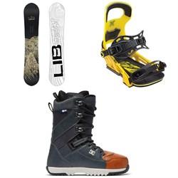 Lib Tech Skate Banana BTX Snowboard + Bent Metal Logic Snowboard Bindings + DC Mutiny Snowboard Boots 2019