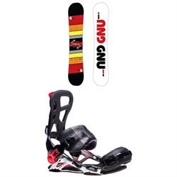 GNU Riders Choice Asym C2X Snowboard + GNU Psych Snowboard Bindings