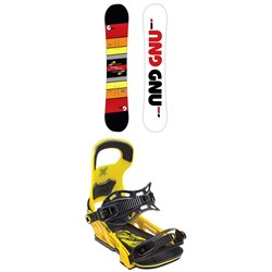 GNU Riders Choice Asym C2X Snowboard ​+ Bent Metal Logic Snowboard Bindings