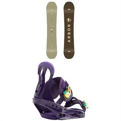 Arbor Ethos Snowboard - Women's ​+ Burton Citizen Snowboard Bindings - Women's