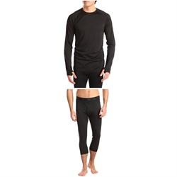 evo Ridgetop Polartec® Midweight Crew Top + 3/4 Length Pants