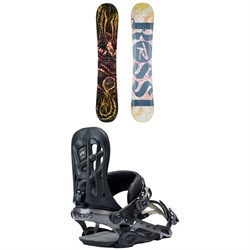 Rossignol Angus Snowboard + Rome 390 Boss Snowboard Bindings