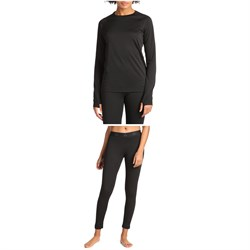 evo Ridgetop Polartec® Power Grid™ Midweight Crew Top ​+ Ridgetop Polartec® Midweight Pants - Women's