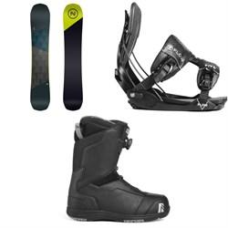 Nidecker Merc Snowboard + Flow Five Fusion Snowboard Bindings + Nidecker Aero Boa Coil Snowboard Boots 2019