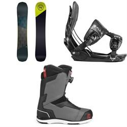 Nidecker Merc Snowboard + Flow Five Fusion Snowboard Bindings + Nidecker Aero Boa Coil Snowboard Boots