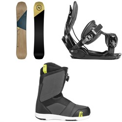 Nidecker Escape Snowboard + Flow Alpha Snowboard Bindings + Nidecker Ranger Boa Snowboard Boots