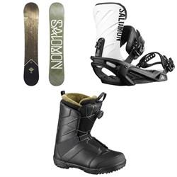 Salomon Sight X Snowboard + Salomon Rhythm Snowboard Bindings + Salomon Faction Boa Snowboard Boots 2019