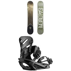Salomon Sight X Snowboard + Salomon Rhythm Snowboard Bindings