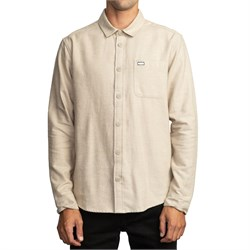 RVCA Black Sand Flannel Long-Sleeve Shirt