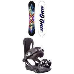 GNU Velvet Gnuru Asym C2E Snowboard - Women's + Rome Strut Snowboard Bindings - Women's