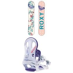 Roxy Glow Snowboard - Women's + Roxy Wahine Snowboard Bindings - Women's 2019