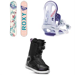 a52e4cd167b9 Roxy Glow Snowboard - Women s + Wahine Snowboard Bindings - Women s +  thirtytwo Shifty