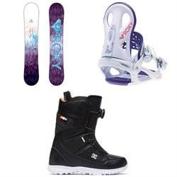 Roxy Sugar Banana Snowboard - Women's + Wahine Snowboard Bindings - Women's + DC Search Boa Snowboard Boots - Women's 2019