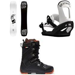 Bataleon Disaster Snowboard + Switchback Destroyer Snowboard Bindings + DC Mutiny Snowboard Boots