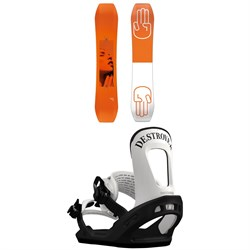 Bataleon Wallie Snowboard + Switchback Destroyer Snowboard Bindings 2019