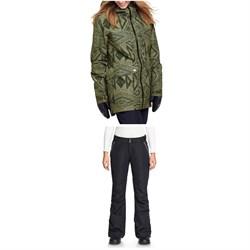 Roxy Glade Printed GORE-TEX 2L Jacket + Roxy Rushmore 2L GORE-TEX Pants - Women's