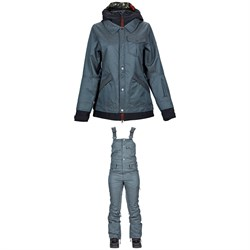 Nikita Cypress Jacket ​+ Nikita Evergreen Denim Bibs - Women's