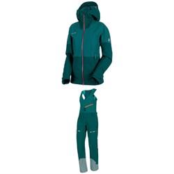 Mammut Alvier HS Hooded Jacket + Mammut Alvier HS Soft Bib Pants - Women's