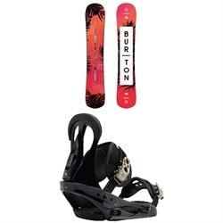 Burton Hideaway Snowboard - Women's + Burton Citizen Snowboard Bindings - Women's 2019