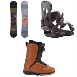 Rome Reverb Rocker SE Snowboard + Arsenal Snowboard Bindings + Ride Jackson Snowboard Boots