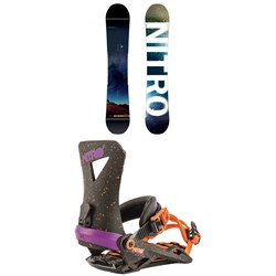Nitro Team Exposure Gullwing Snowboard ​+ Nitro Zero Snowboard Bindings 2019