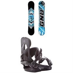 GNU Gnuru Asym C2E Snowboard + Rome Arsenal Snowboard Bindings