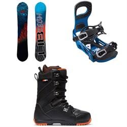 Lib Tech Skate Banana BTX Snowboard + Bent Metal Joint Snowboard Bindings + DC Mutiny Snowboard Boots 2019