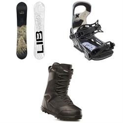 Lib Tech Skate Banana BTX Snowboard + Bent Metal Logic Snowboard Bindings + thirtytwo Prion Snowboard Boots