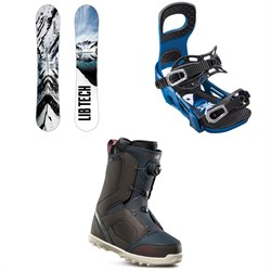 Lib Tech Cold Brew C2 Snowboard + Bent Metal Joint Snowboard Bindings + thirtytwo STW Boa Snowboard Boots 2019
