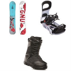 GNU Money C2E Snowboard ​+ Bent Metal Joint Snowboard Bindings ​+ thirtytwo Prion Snowboard Boots