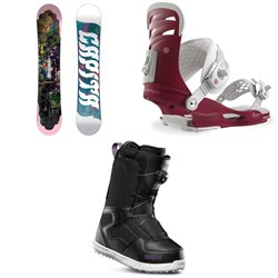 CAPiTA Paradise Snowboard + Union Rosa Snowboard Bindings + thirtytwo Shifty Boa Snowboard Boots - Women's 2019
